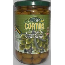 Cortas Green Olives 22oz