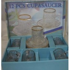 6 Cups With Saucers