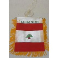 Lebanese Small Hanging Flag