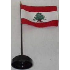 Lebanese Flag On A Stick