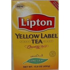 Lipton Yellow Label Tea Long Leaf 15.8 Oz