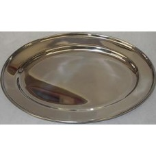 Stainless Tray Oval 25 Cm