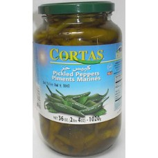 Cortas Pepper Pickles 36oz