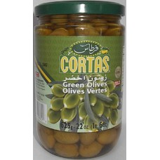 Cortas Green Olives 22oz