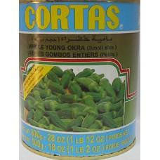 Green Okra Cortas 30 Oz