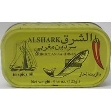 Sardine Alshark Hot 125g