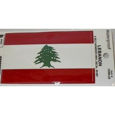 Lebanese Flag Stickers