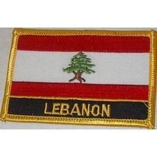 Lebanese Flag Patch With Name