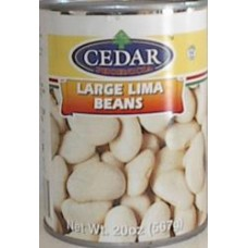 Lima Beans Cedar 20 Oz